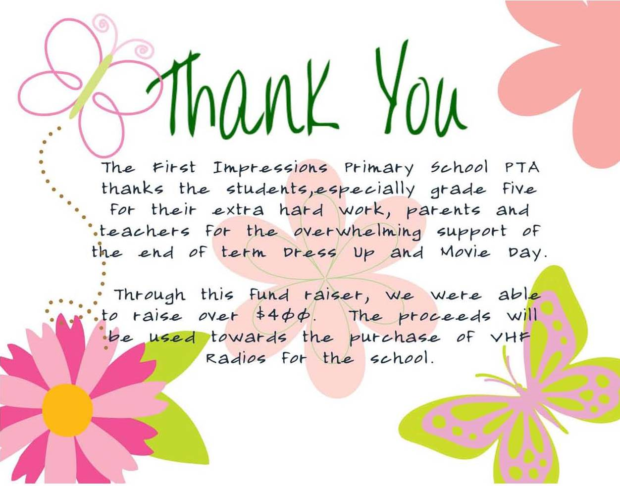 Thank You Letter Kindergarten Teacher Image collections ...